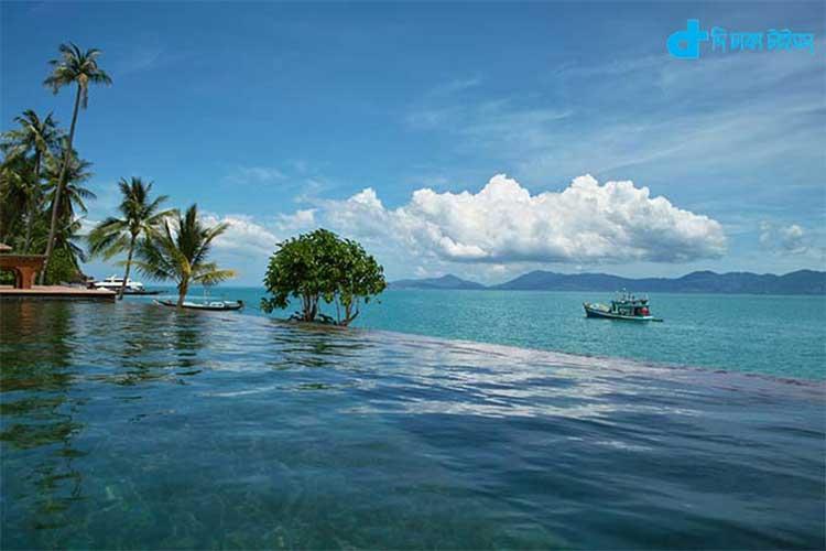দৃষ্টিনন্দন এ দৃশ্য থাইল্যান্ডের একটি পর্যটনকেন্দ্রের