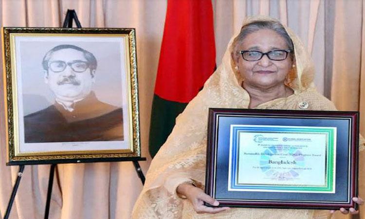 শেখ হাসিনাকে 'এসডিজি অগ্রগতি পুরস্কার' প্রদান করেছে এসডিএসএন