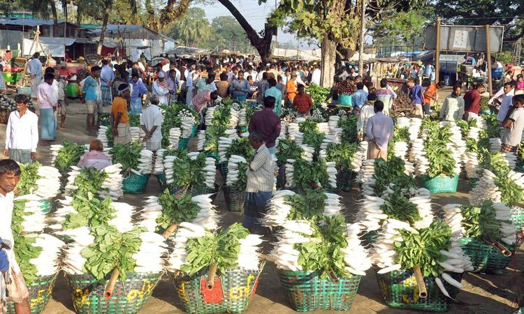 চট্টগ্রামে হাটে শীতের সবজি বিক্রির অপেক্ষায় কৃষক